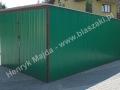 3x5 kolor zielony garaż blaszany wzmacniany