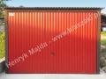 Czerwony blaszak 3x5 front, RAL 3009