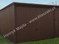 Garaż metalowy 4x5, dodatkowe wejscie z przodu, RAL 8017