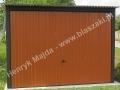 Jasnobrązowy garaż 3x5, brama uchylna