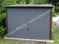 Grafit front RAL 7016, dach ze spadem do tyłu