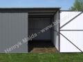 Szary garaż 3x5