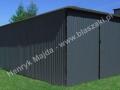 Szary garaż wymiary typowe RAL 7016