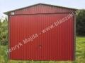 Wiśniowy dwuspadowy garaż blaszak 3 x 5