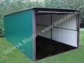 Zielony garaż blaszak 3x5