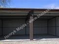Blaszak 6x5, spad do tyłu, dach z profila zamkniętego, konstrukcja