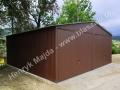 Blaszany garaż 6x6 - duży bramy podnoszone