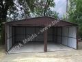 Blaszany garaż 6x6 - duży dwuspad na wylewce betonowej