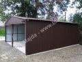 Blaszany garaż 6x6 - duży dwuspad praway bok