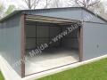 Blaszany garaż 6x6, kolor RAL 7016