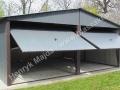Blaszany garaż 6x6 kolor: RAL 7016, producent: HM