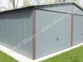 Blaszany garaż 6x6 ral 7016 grafit dwuspadowy
