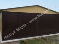Brązowożółty garaż blaszany 6x5 producent HM