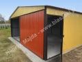 Ceglasto-piaskowy dwuspadowy garaż 6x5, RAL 8004, RAL 1002
