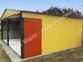 Ceglasto-piaskowy dwuspadowy garaż 6x5 - bok prawy
