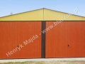 Ceglasto-piaskowy dwuspadowy garaż 6x5 - front
