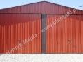 Czerwony blaszak 6x6 RAL 3009, dwuspad wzmacniany, producent HM