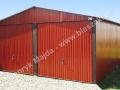 Czerwony blaszak 6x6 RAL 3009, wygodne bramy uchylne, producent HM