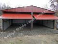 Duży garaż blaszak 6x6, dach dwuspadowy, producent HM
