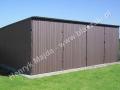 Dwustanowiskowy garaż 6x5, RAL 8017