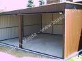 Garaż blaszany 6x5, wzmocniona konstrukcja, RAL 8017
