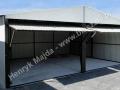 Jasny, biały - RAL 9001 blaszak 6x5 dwuspadowy garaż