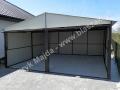 Jasny, biały blaszak 6x5, RAL 9001 - wnętrze garażu