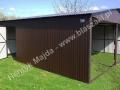 Spad na boki - garaż blaszany o wymiarach 6x6 RAL 8017