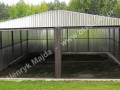 Wygodny i tani podwójny garaż blaszak z dachem dwuspadowym 6x5