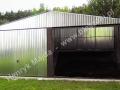 Wygodny i tani podwójny garaż z bramami uchylnymi 6x5