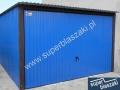 Niebieski typowy blaszak 3mx5m