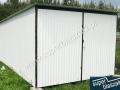 Garaż blaszany typowy 3x5 w kolorze RAL 9002
