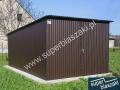 Garaż blaszany 3x5 ral 8017 dach jednospadowy wzmocniony