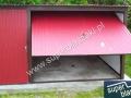 Czerwony blaszak 4x5 z bramą uchylną