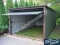 Garaż blaszany 3x5 blaszak dach jednospadowy