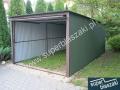 Garaż blaszany 3x5 w kolorze ral 6020 matowy