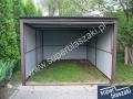 Garaż blaszany 3x5 z bramą uchylną