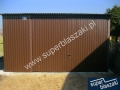 Garaże blaszane 4x6 konstrukcja wzmacniana profilem zamkniętym
