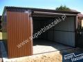 Garaże blaszane 4x6 z bramą uchylną