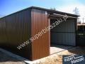 Garaże blaszane 4x6 z dachem jednospadowym
