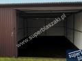 Garaż metalowy 4 m x 5 m brama uchylona