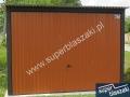 Jasnobrązowy garaż blaszany 3x5, RAL 8004