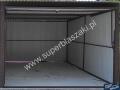 Jasnobrązowy otwarty blaszak 3 x 5 dach jednospadowy