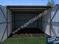 Szary garaz 3 x 5 brama otwierana na boki