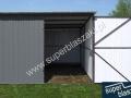 Szary garaż blaszak 3x5 ral 7016