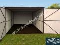 Wiśniowy garaż blaszany 3mx5m