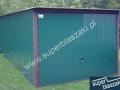 Zielony garaż blaszak 3x6