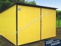 Żółty garaż blaszany wymiarów 3x5