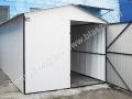 Biały garaż blaszak HM