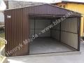 Brązowy garaż blaszany 4x5 HM, RAL 8017